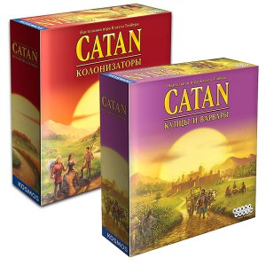 Набор игр Catan. Колонизаторы + Колонизаторы Купцы и варвары