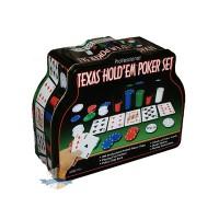 Набор для игры в Покер в жестяной коробке, 200 фишек