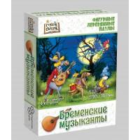 """Фигурный деревянный пазл """"Бременские музыканты"""""""