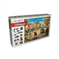 """Фигурный деревянный пазл Citypuzzles """"Амстердам"""""""