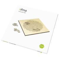 Деревянный фрактальный пазл rifma Asterisk 16501 Hard
