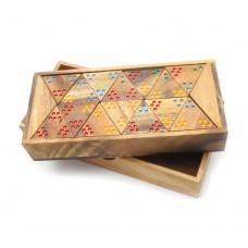 Настольная игра Тримино (треугольное домино) арт. GP443D/GP443N (Thai Wood)